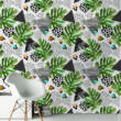 Geometrikus virágok - öntapadós tapéta