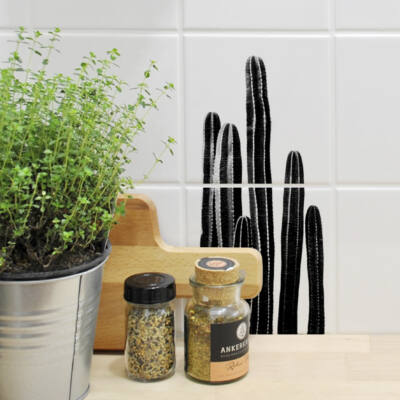 Kaktusz 01 - 2 db - csempematrica - átlátszó