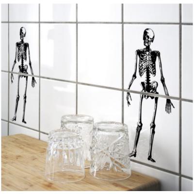 Csontváz - 2 db csempematrica - átlátszó