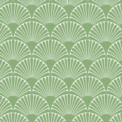 Art deco-bows- green- csempematrica -átlátszó