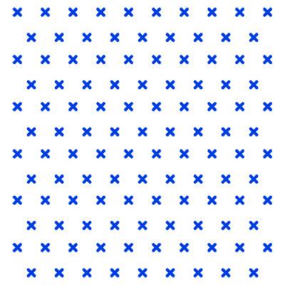 Keresztes - kék - csempematrica-átlátszó