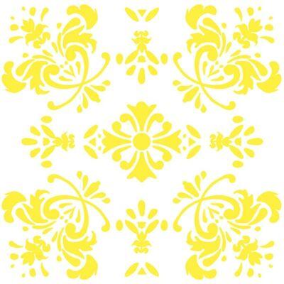 Virágos romantika - Sárga - csempematrica