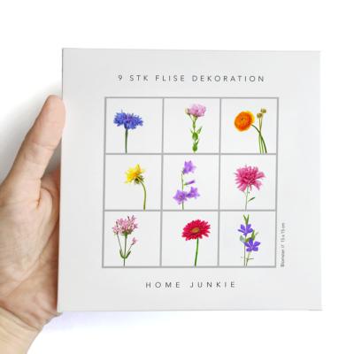 Virágok - 9 db - csempematrica - átlátszó