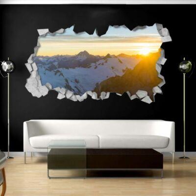 Napos hegyek 3D Tapéta
