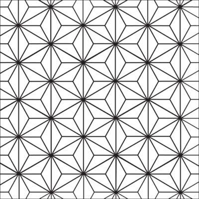 Csillagminta FEKETE-FEHÉR csempematrica