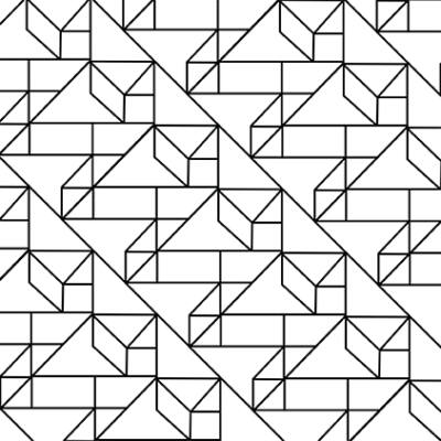 Grafikus minta FEKETE-FEHÉR csempematrica