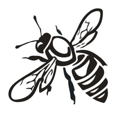 Méhecske - átlátszó csempematrica