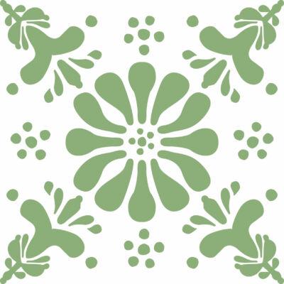 Virág ZÖLD csempematrica