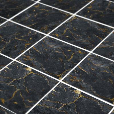 Fekete-arany márványos - padlómatrica