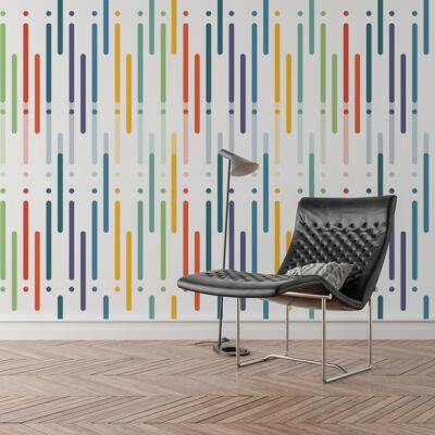Colorful art design - öntapadós tapéta