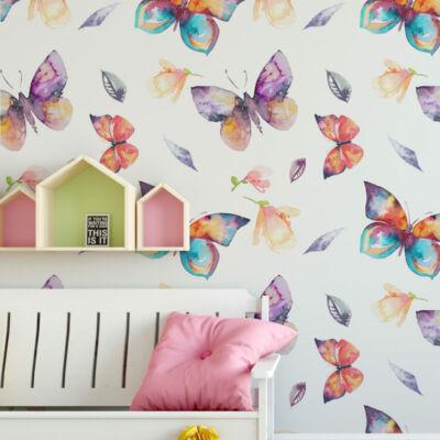 Színes pillangók - öntapadós tapéta