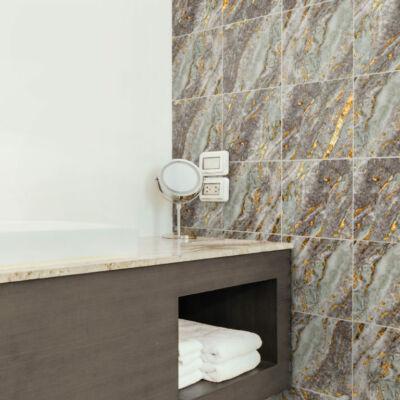 Szürke-arany márvány - 10 db - csempematrica