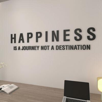 3D hatású Happiness is a Journey- falimatrica