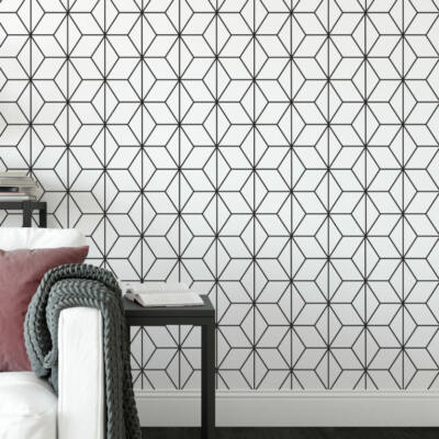 Art Deco Stars Pattern - öntapadós tapéta