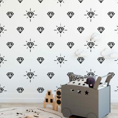 Hipster gyémántok - öntapadós tapéta