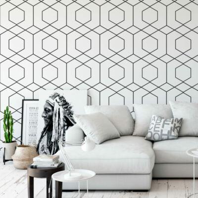 Hexagon vonalak  - öntapadós tapéta