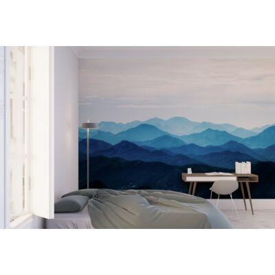 Ködös hegyek látkép öntapadós falikép