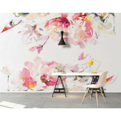 Virágos akvarell öntapadós falikép